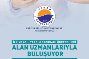 Eczane Hizmetleri Programı ile İlk ve Acil Yardım Programı Kariyer Etkinliği